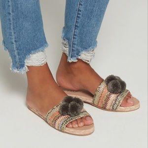 Pom Flat Sandals